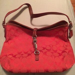 Watermelon Pink Coach Bag